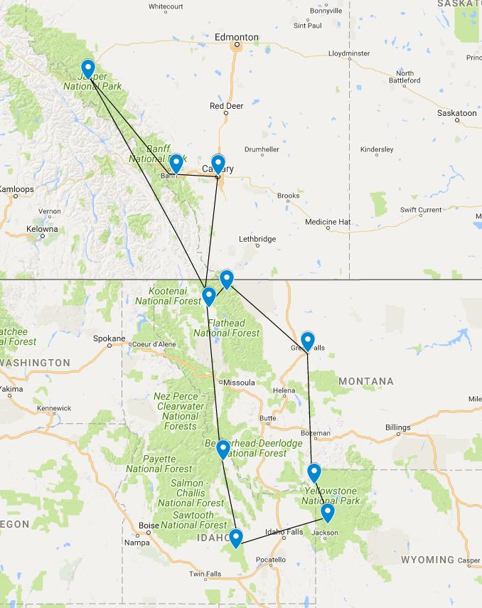 Route canada amerika reis
