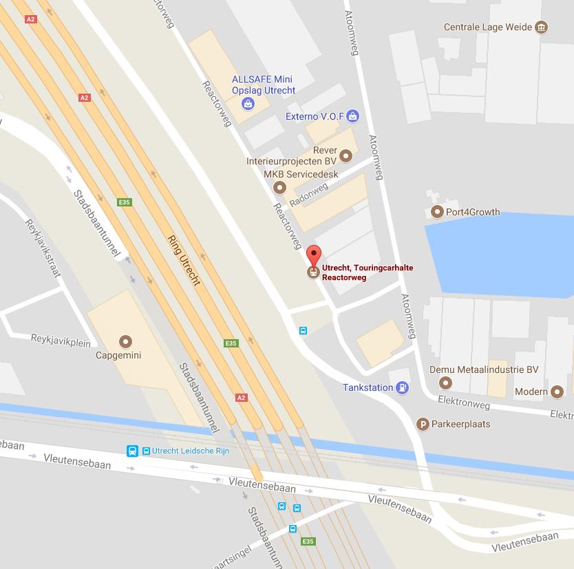 Utrecht reactorweg touringcarhalte