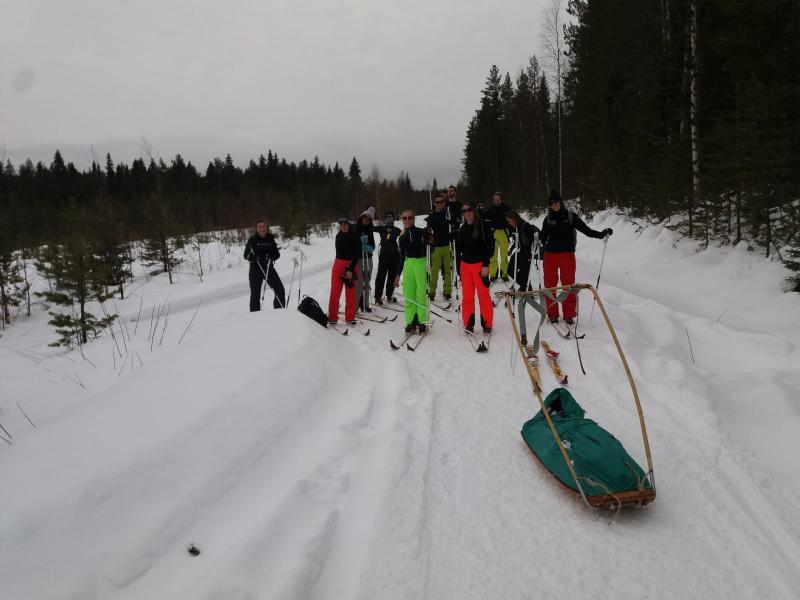 Sami skiën