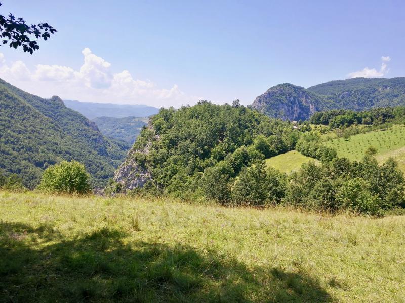 Uitzicht tijdens hike