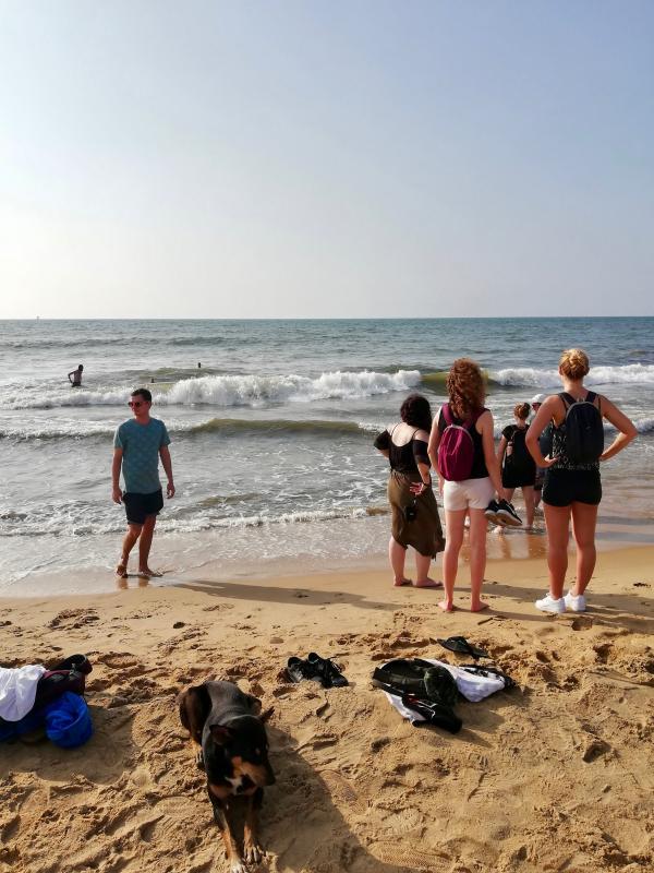 Bezoek aan het strand
