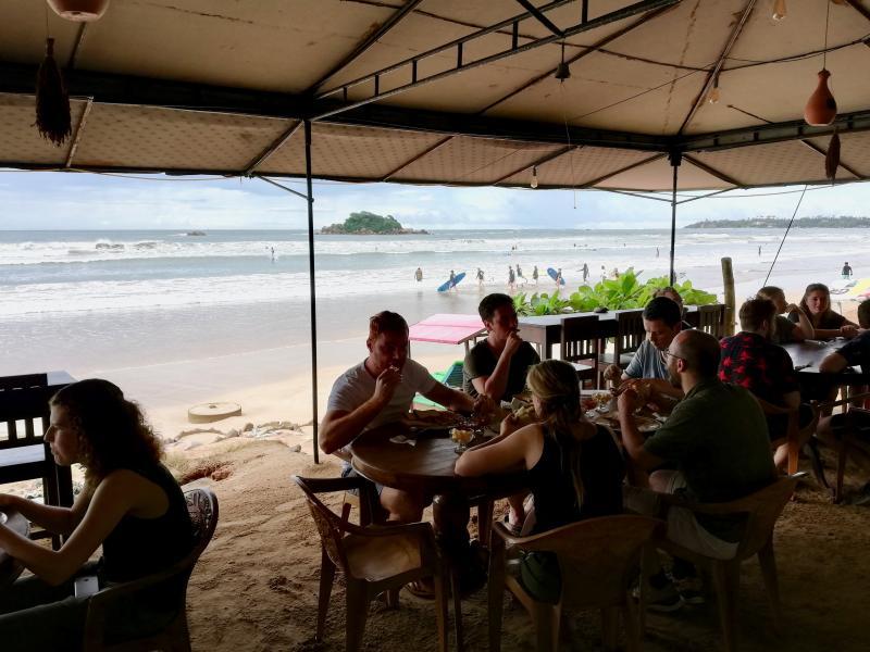 Eten aan de kust