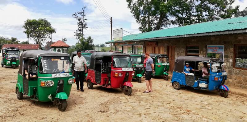 Tuk tuk's in Sri Lanka