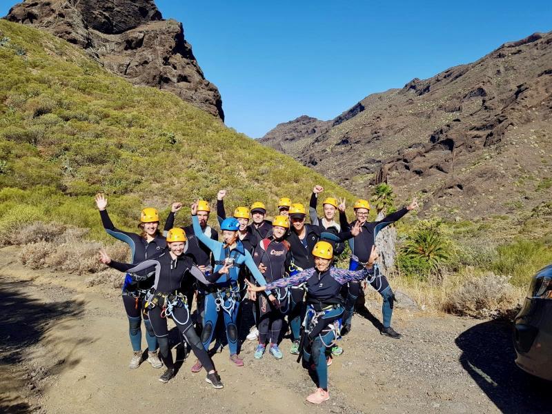 Groepsfoto voor canyoning