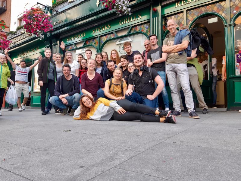 Groepsfoto in Dublin