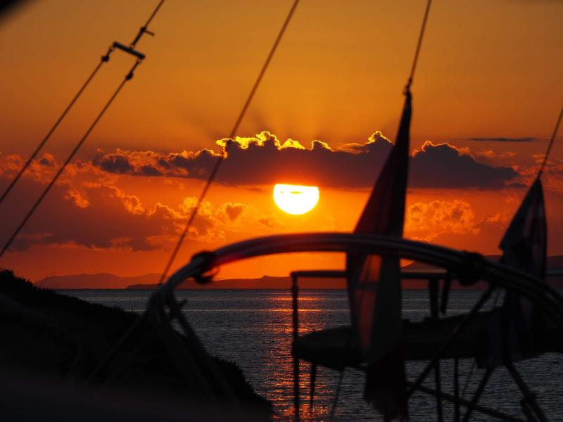 De mooiste zonsondergang