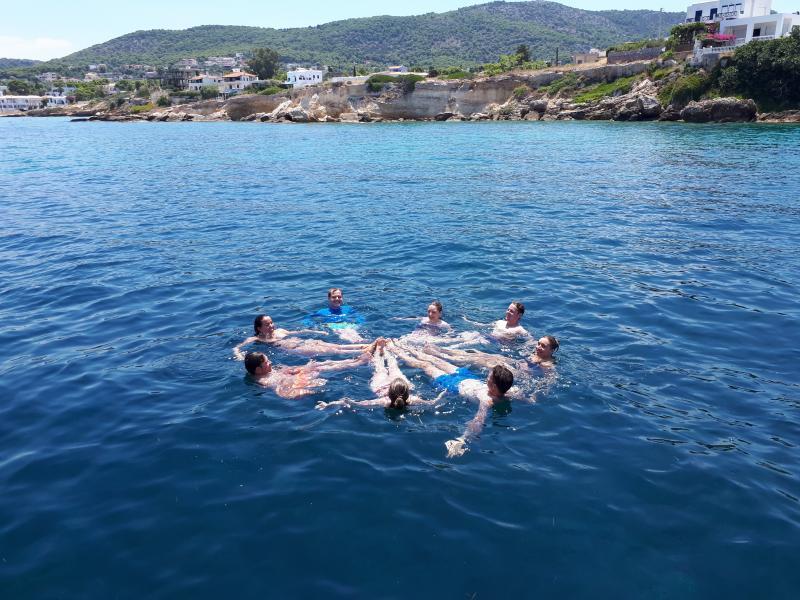 Zwemmen tijdens het zeilen