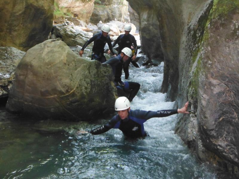 groepsreis canyoning
