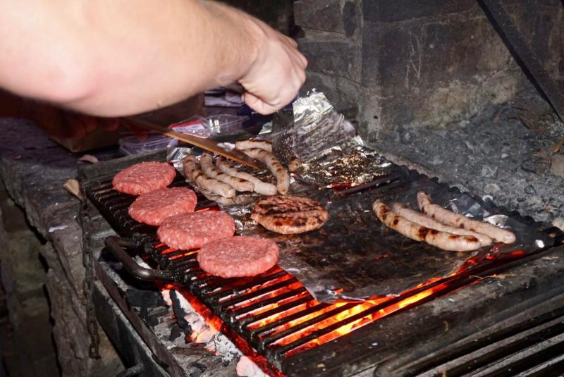 BBQ'en op de camping