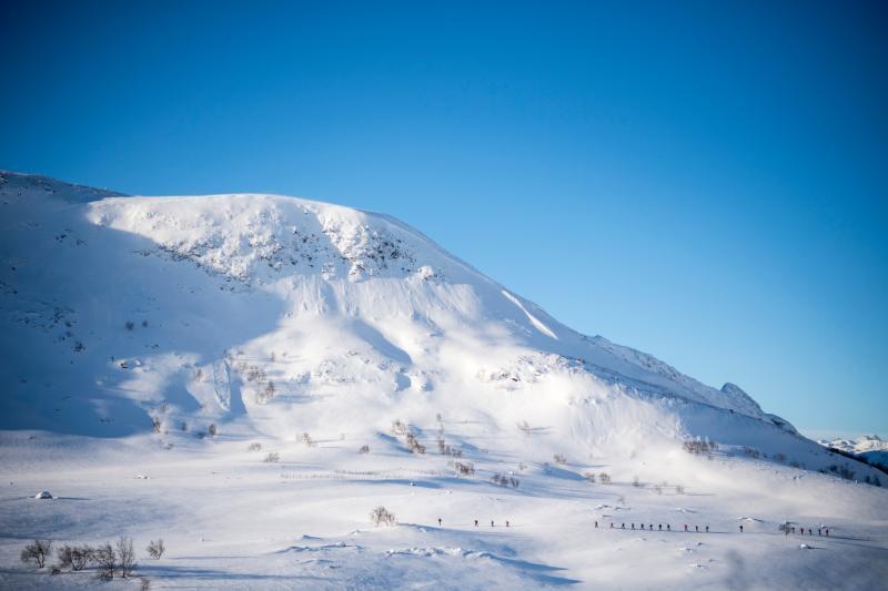 Besneeuwd Noorwegen