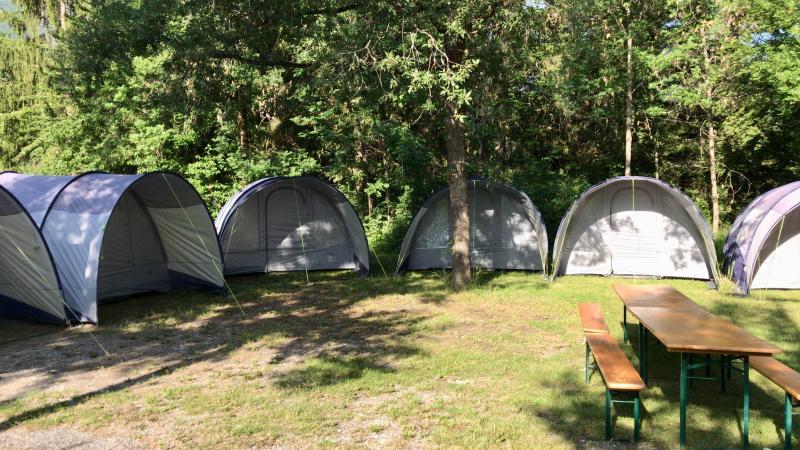 Camping La Rochette kampement