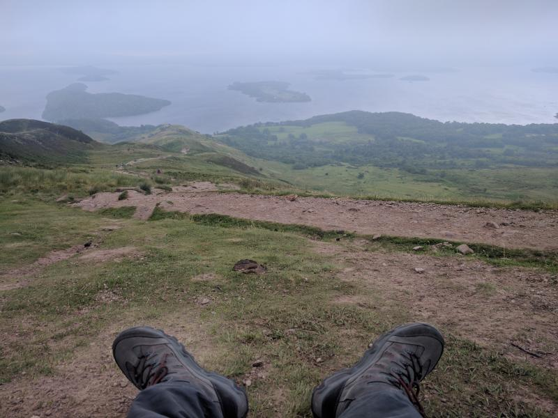 Conic Hill - uitzicht over Loch Lomond
