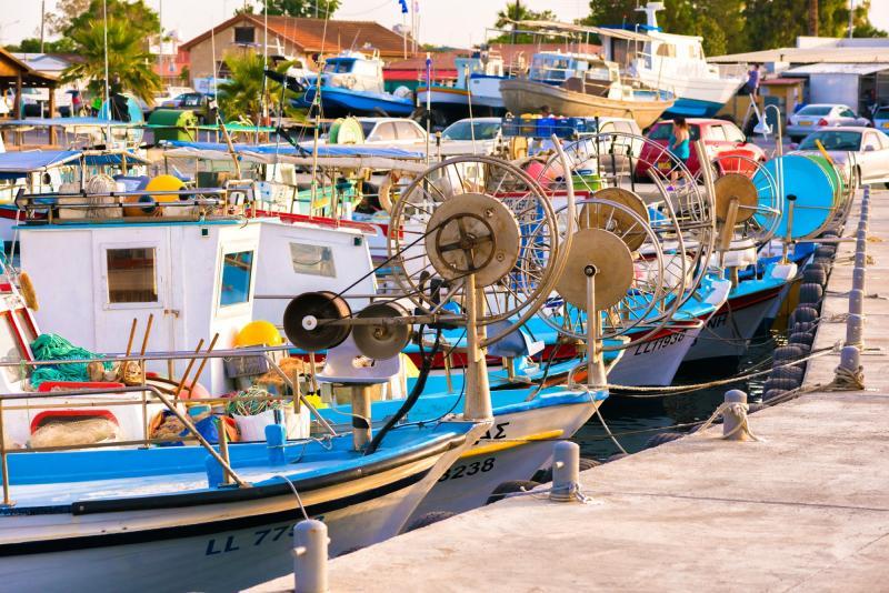 Cyprus, vissersbootjes