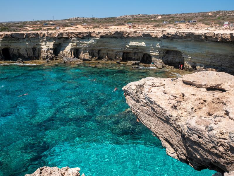 Cyprus, zeegrotten