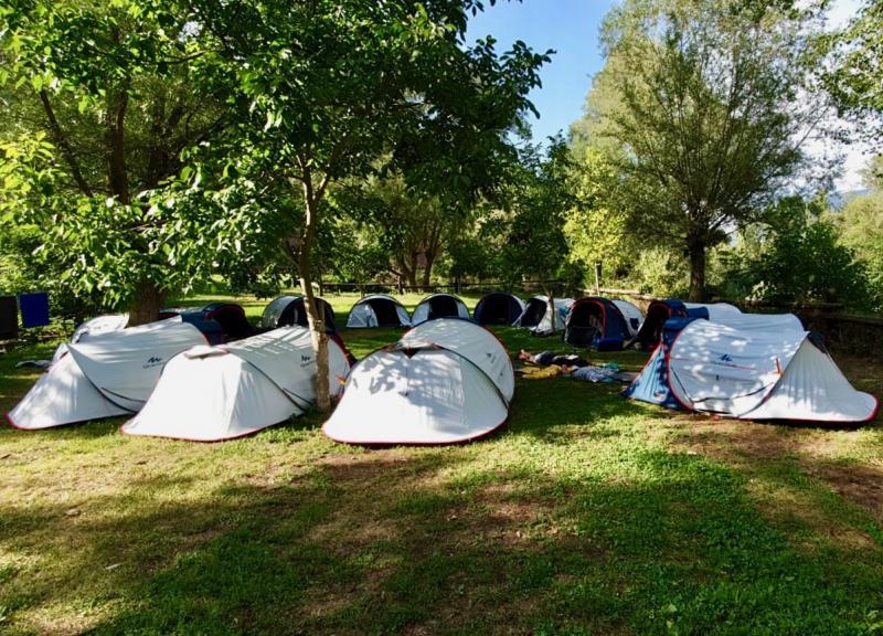De eerste camping