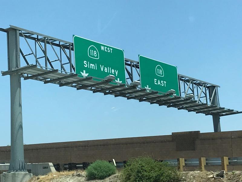 De Simi Valley ligt in Californie