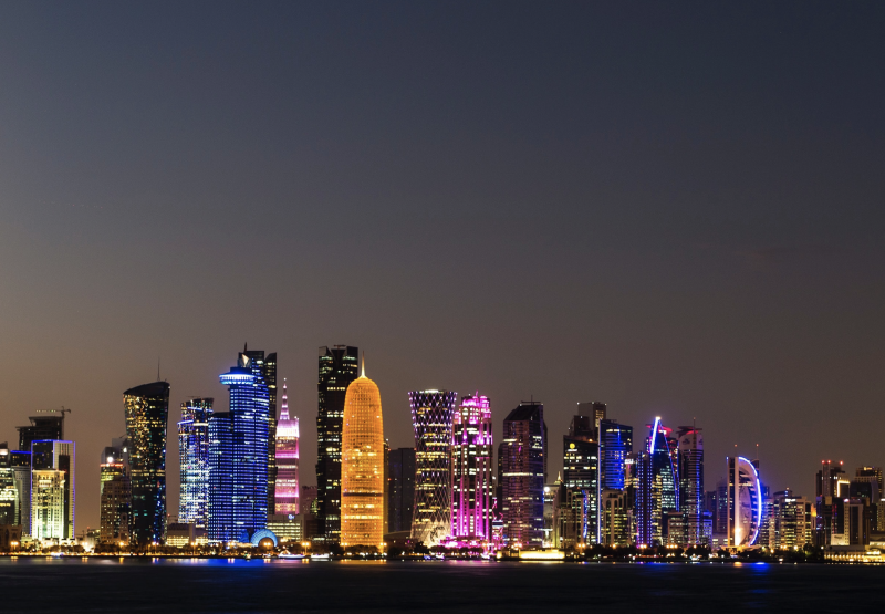 Doha in de nacht