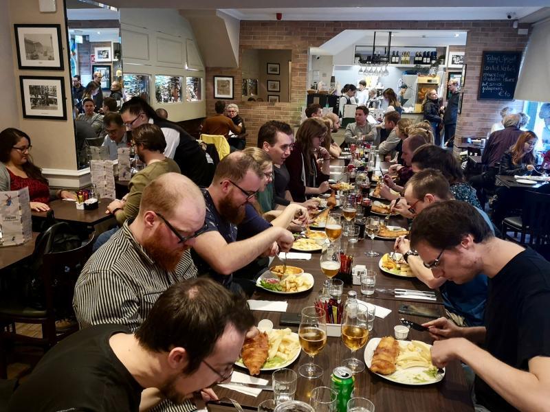 Eten in een Ierse pub
