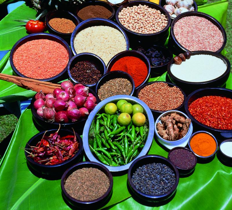 Gekleurd eten Sri Lanka