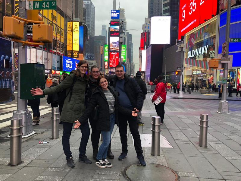 Gezelligheid op Times Square