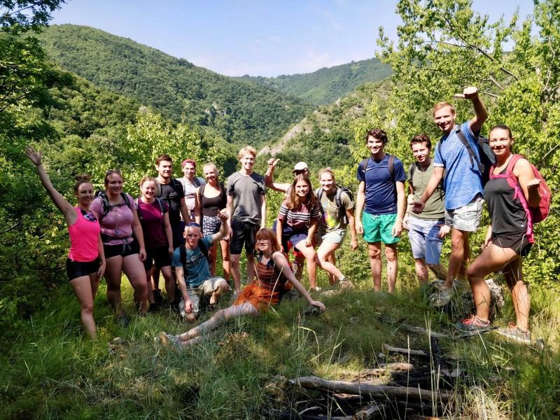 Groepsfoto vanuit Servie!