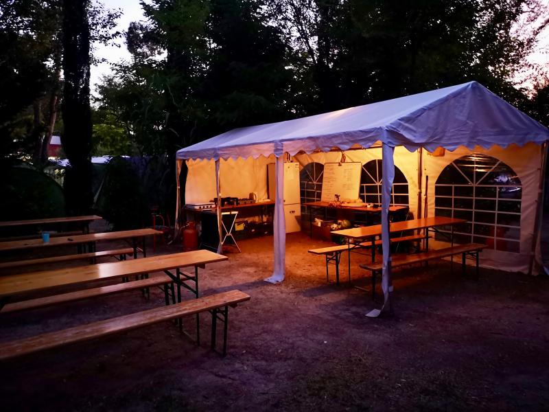 Kampement op de camping