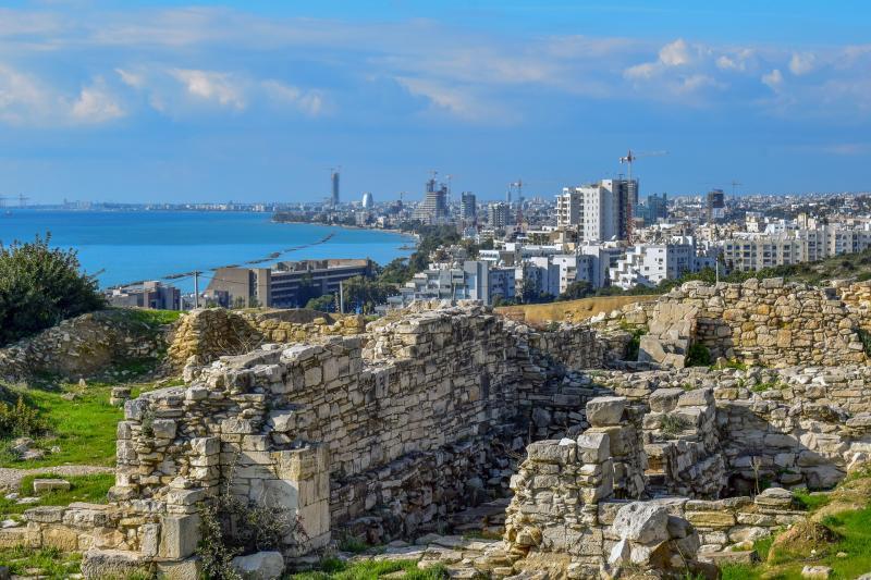 Limassol, Cyprus, oude Amathus ruines