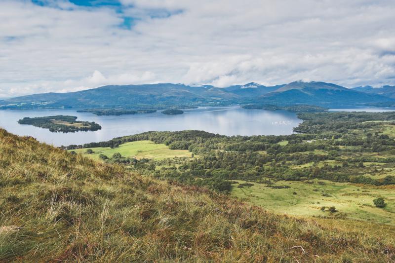 Loch Lomond vanaf de Conic Hill