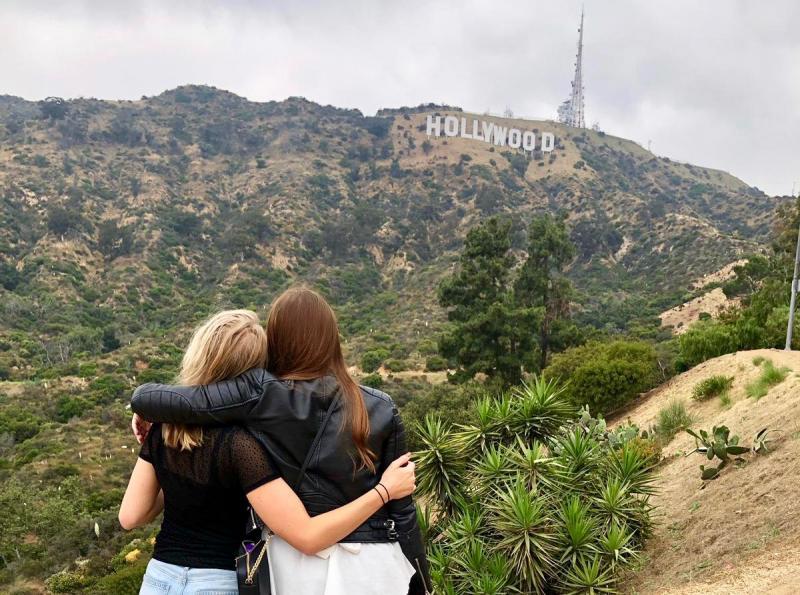 Maak een foto met het Hollywood sign