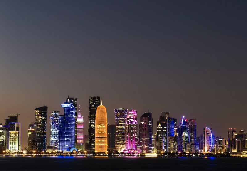 Nacht in Doha, Qatar