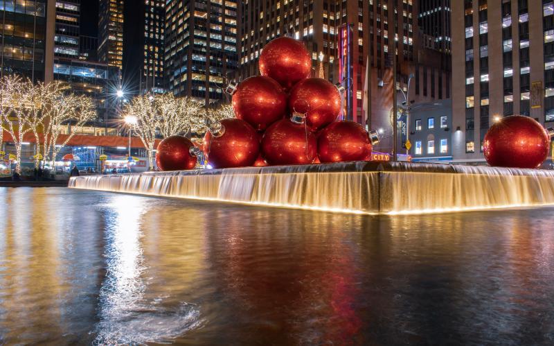 New York in kerstsferen