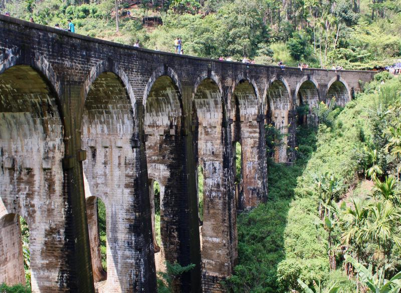 Nine Arch Bridge in Sri Lanka