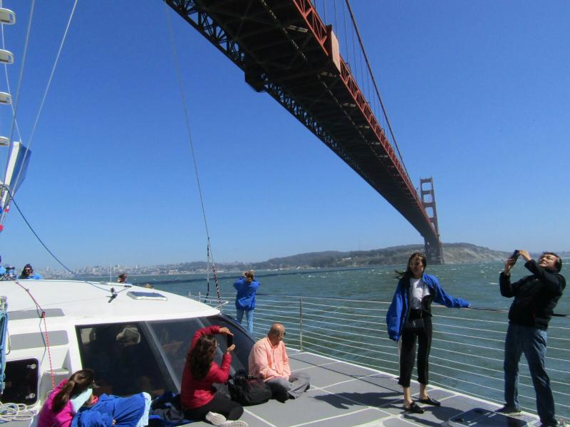 Onder de golden gate brug - San Francisco