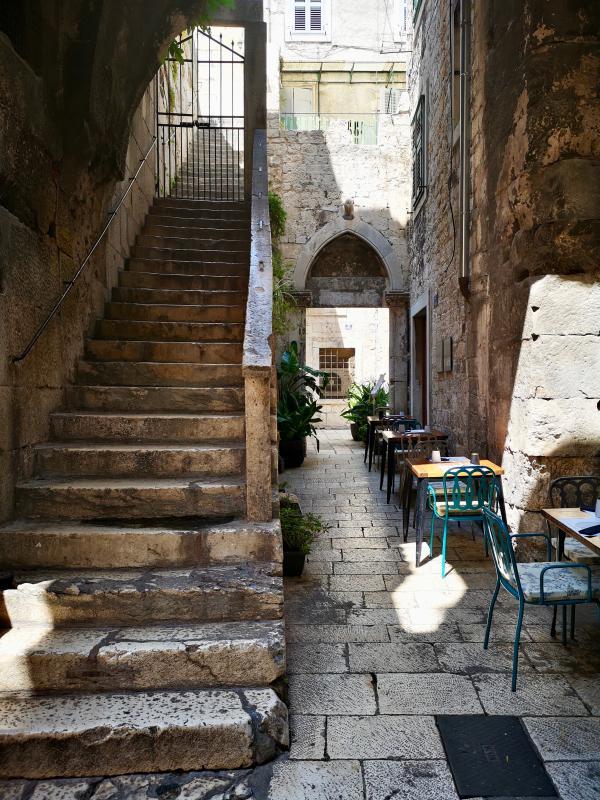 Oude stadsgedeelte van Split