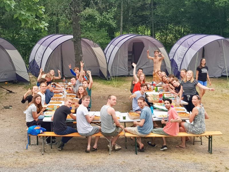 Pizza op de camping!