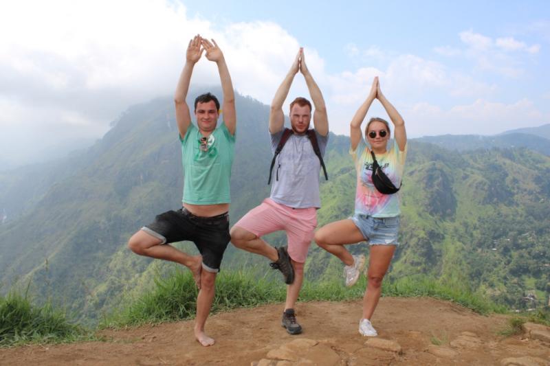 Posing in Sri Lanka