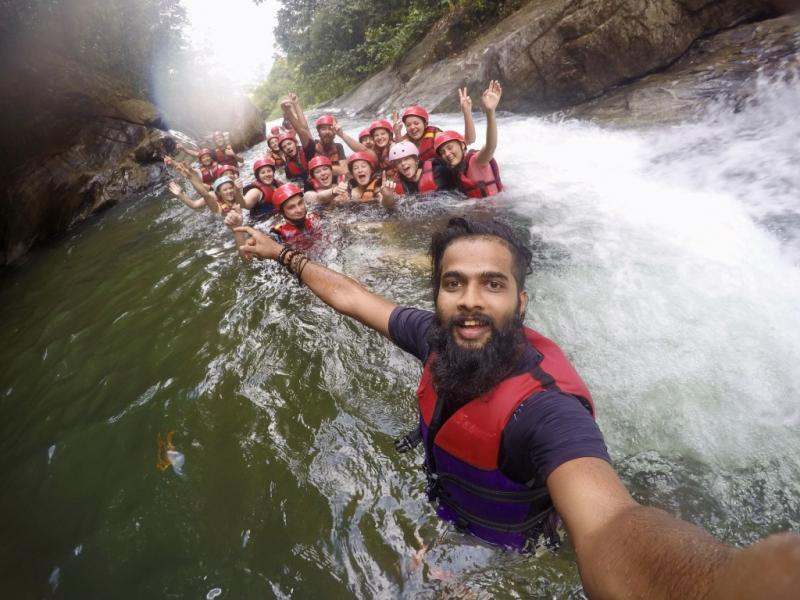 Raften en canyoning in Sri Lanka