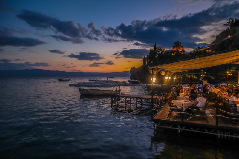 Restaurantjes bij Ohrid Lake