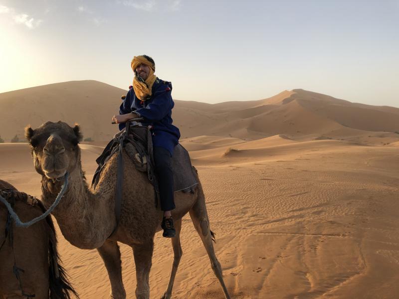 Rit op een kameel