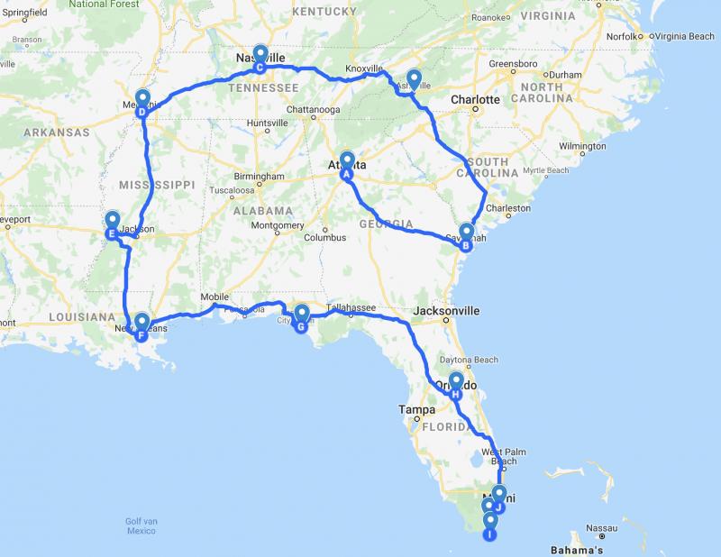 Route rondreis