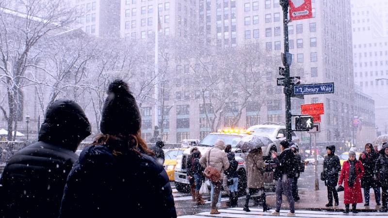 Sneeuw in NY