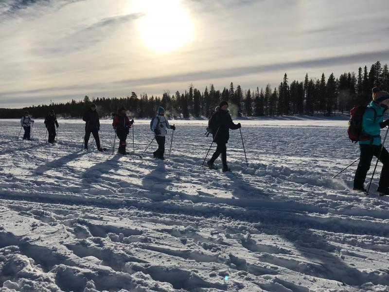 Sneeuw wandelen