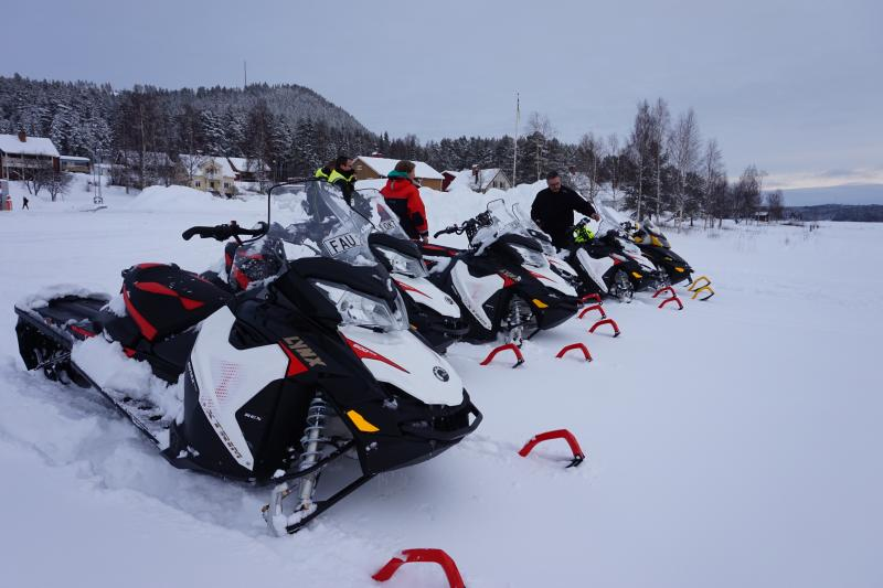 sneeuwscooter groepsreis
