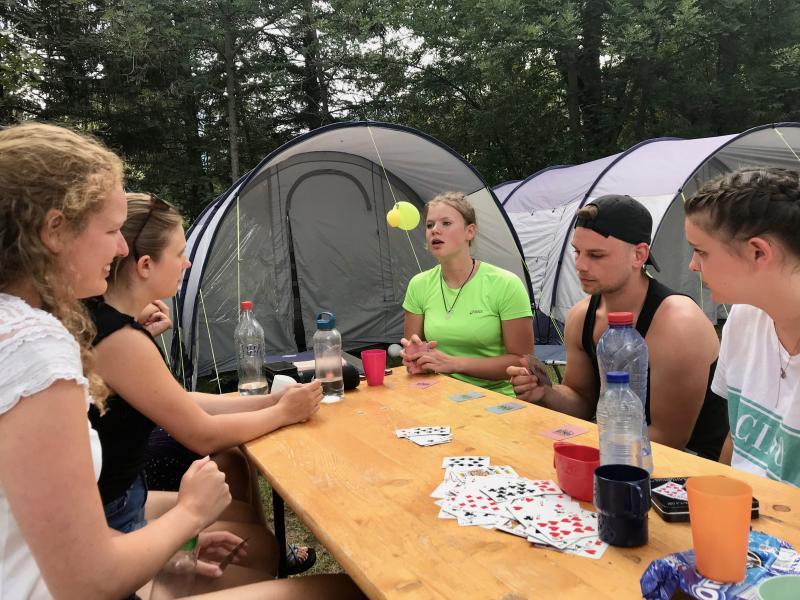 Spelletjes op de camping