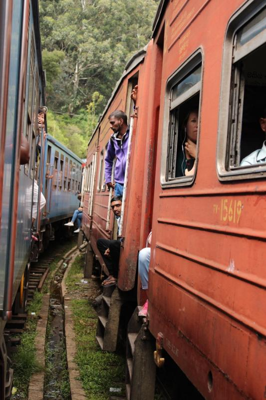 Treinrit naar Ella in Sri Lanka