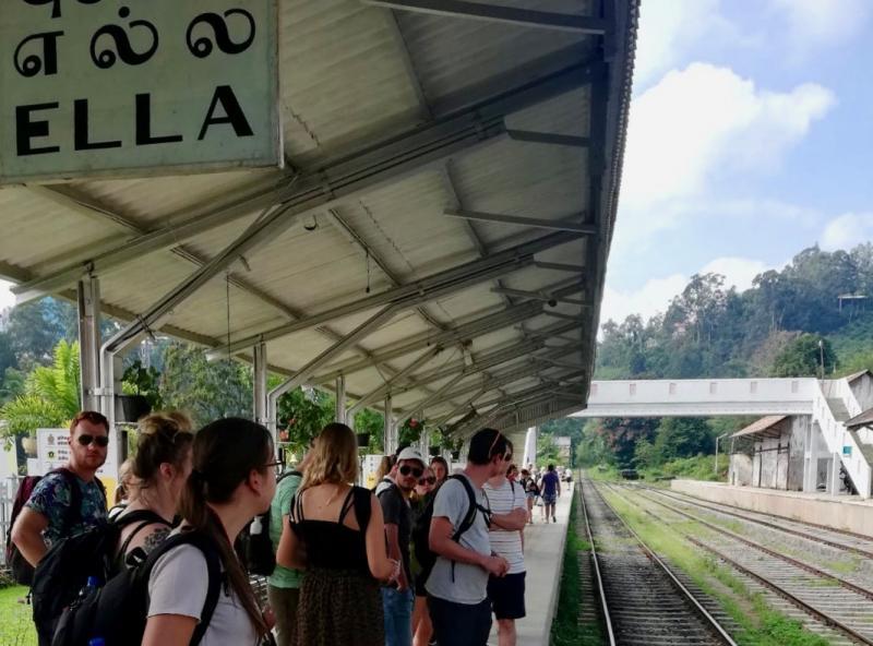 Treinrit naar Ella in Sri Lanka