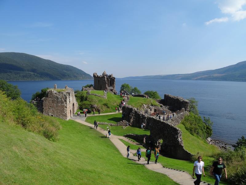 Urquhart Castle bij Loch Ness