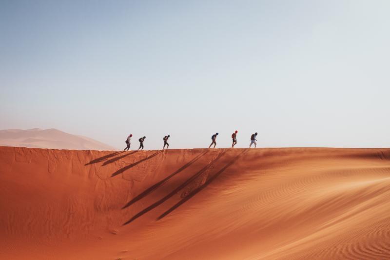 Wandelen woestijn