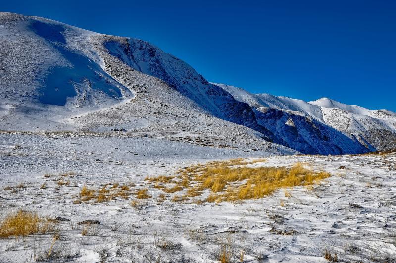 Winters landschap Macedonie