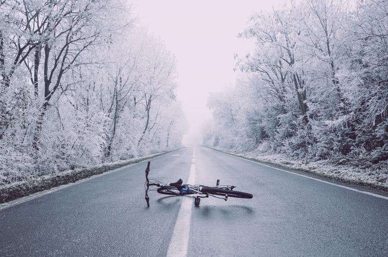 Winterse fietstocht